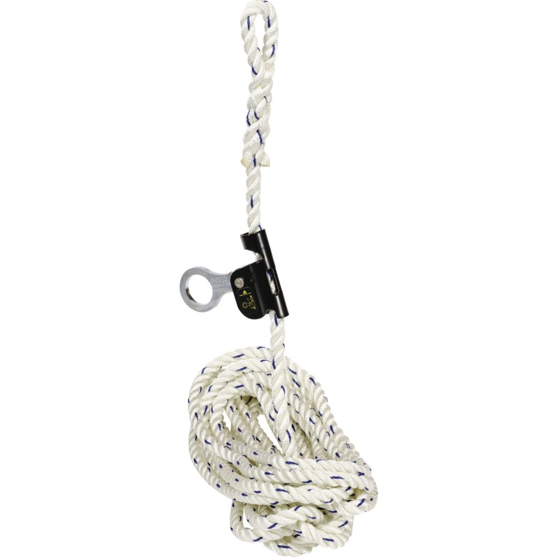 SLIDING FALL ARRESTER ON 30 METER ROPE ANCHORAGE LINE FENNEC AN06330