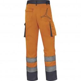PANTALON DE TRAVAIL HAUTE VISIBILITÉ M2PHV Orange fluo-gris