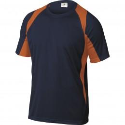 T-SHIRT BALI Bleu Marine-Orange