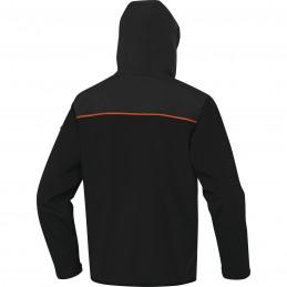 VESTE SOFTSHELL HORTEN2 Noir-orange