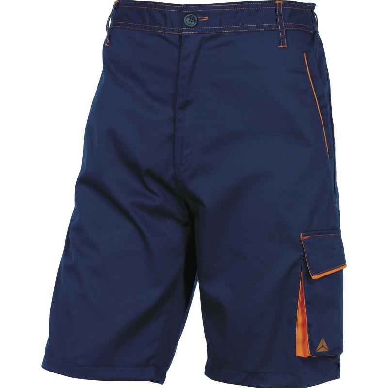 BERMUDA DE TRAVAIL M6BER Bleu Marine-Orange