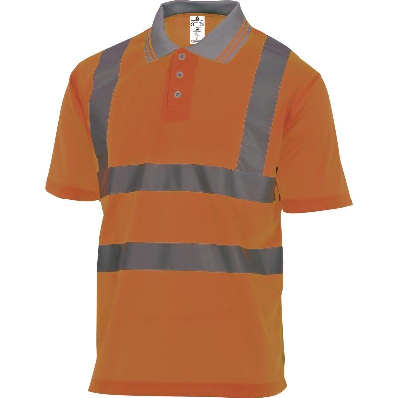 POLO HAUTE VISIBILITÉ OFFSHORE Orange Fluo